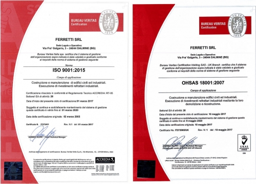 ISO 9001 and 18001
